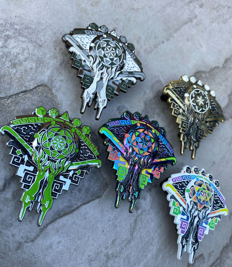 AHIMSA • CHROME Glow • LE 50 Hat Pin Pins