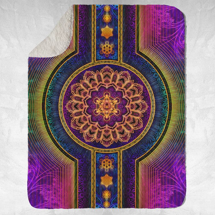 STAGES OF LIGHT V1 • YANTRART • Sherpa Blanket Blanket