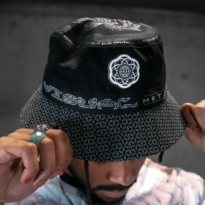 DROPS TODAY 2:22PM PCT • VISUAL METAPHORS • Reversible Bucket Hat Bucket Hat