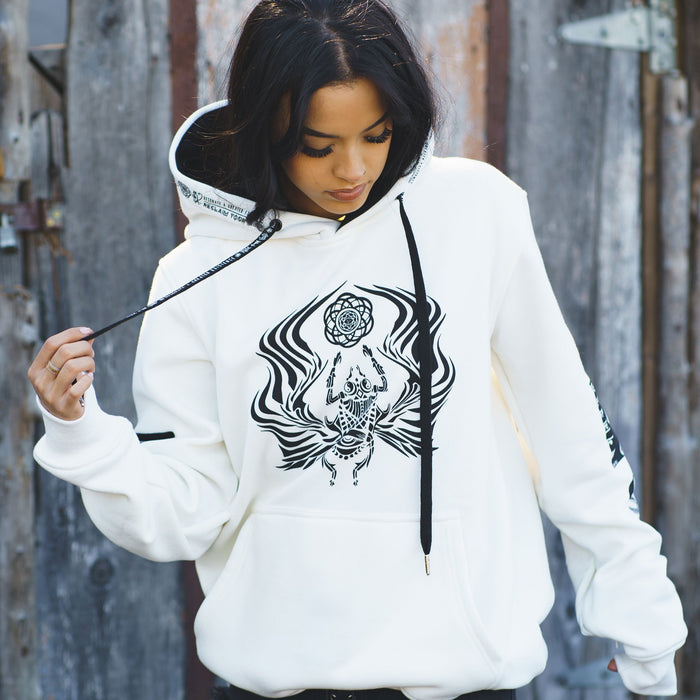 VISUAL METAPHORS V3 • IVORY • Hidden Pocket Hoodie Hoodie