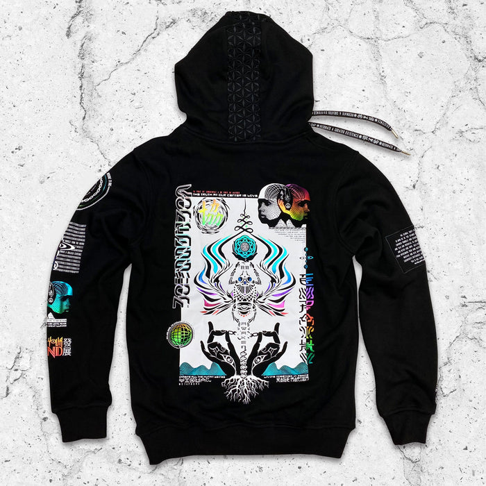 VISUAL METAPHORS V2 • Spectrum Ink • Luxury Fabric Hoodie Hoodie