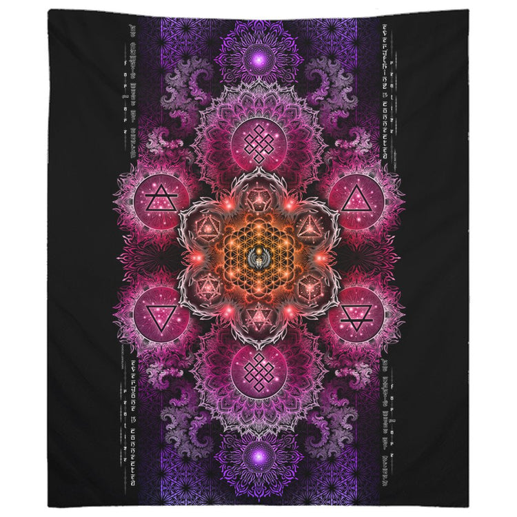NEW-ETERNAL ALCHEMY V2.5 • YANTRART • Wall Tapestry Tapestry 88x104 inch