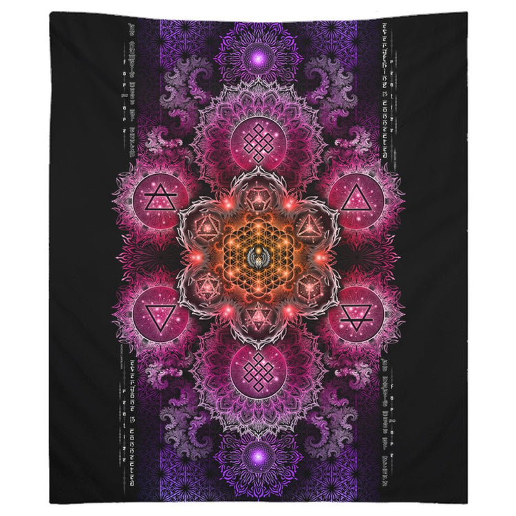 NEW-ETERNAL ALCHEMY V2.5 • YANTRART • Wall Tapestry Tapestry 68x80 inch