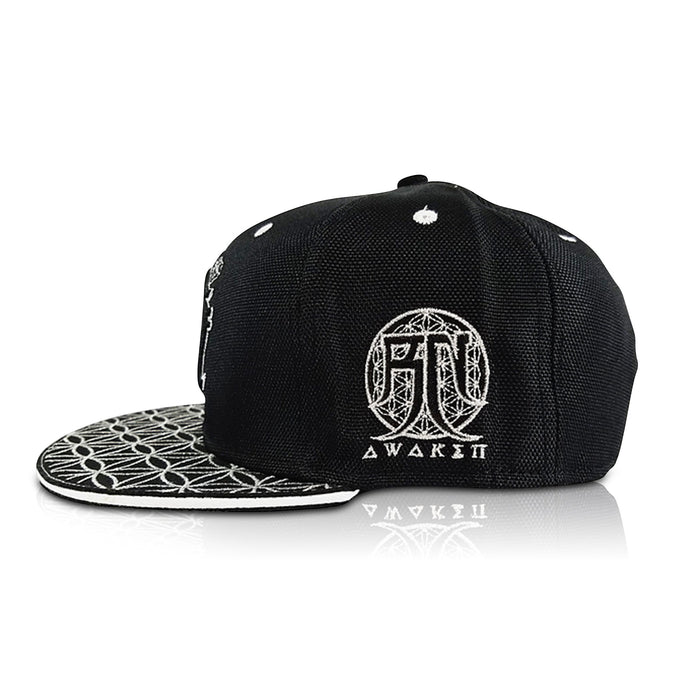 OМ AWAKEN V1 • Black/Silver • Secret Pocket Hemp Snapback Hats