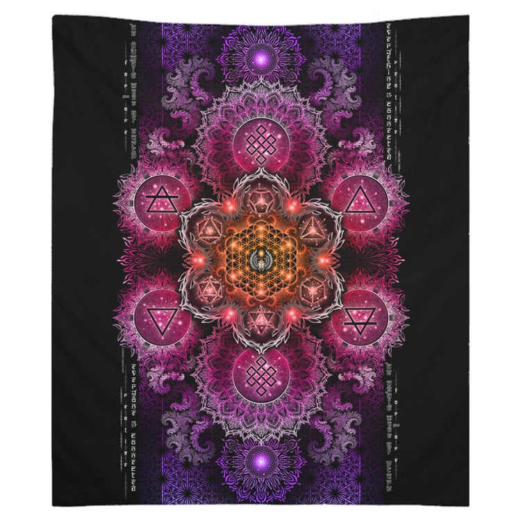 NEW-ETERNAL ALCHEMY V2.5 • YANTRART • Wall Tapestry Tapestry 50x58 inch