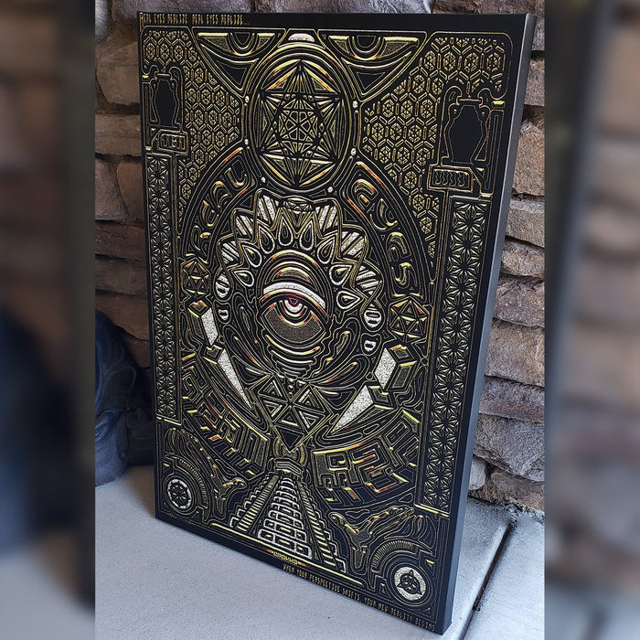 REAL EYES V1 • GROKKO Vertical Canvas Wrap Canvas