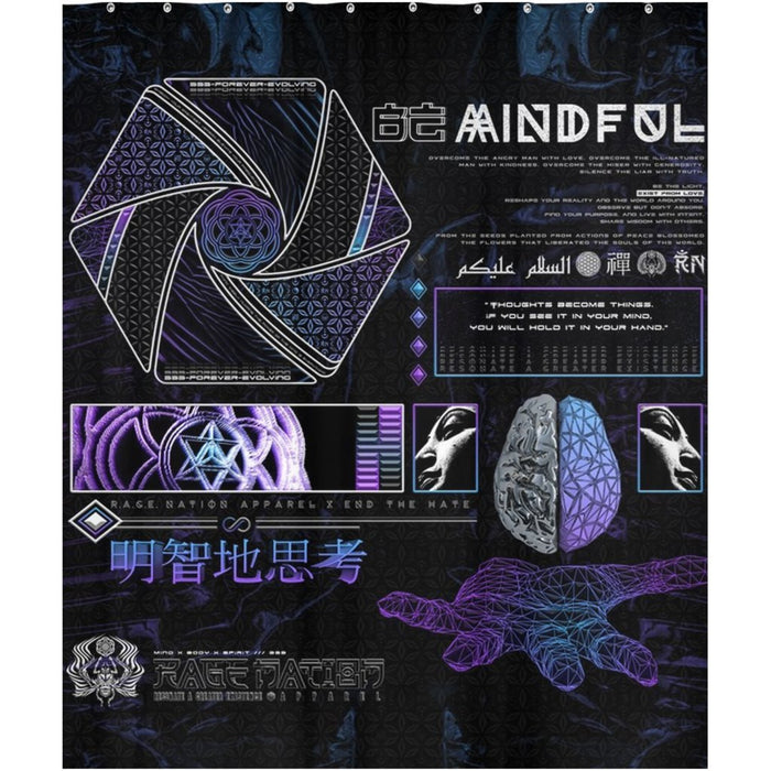Mind of Zennn V1 Shower Curtains 70x83 inch