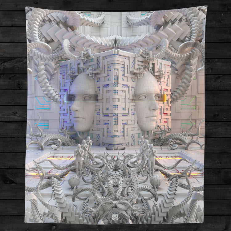 DEFENSE NODE • GLASS CRANE • Wall Tapestry Tapestry