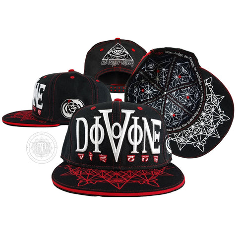 V2 DIVINE VISIONS // Red/White // Hemp Snapback w/ Interior Pocket