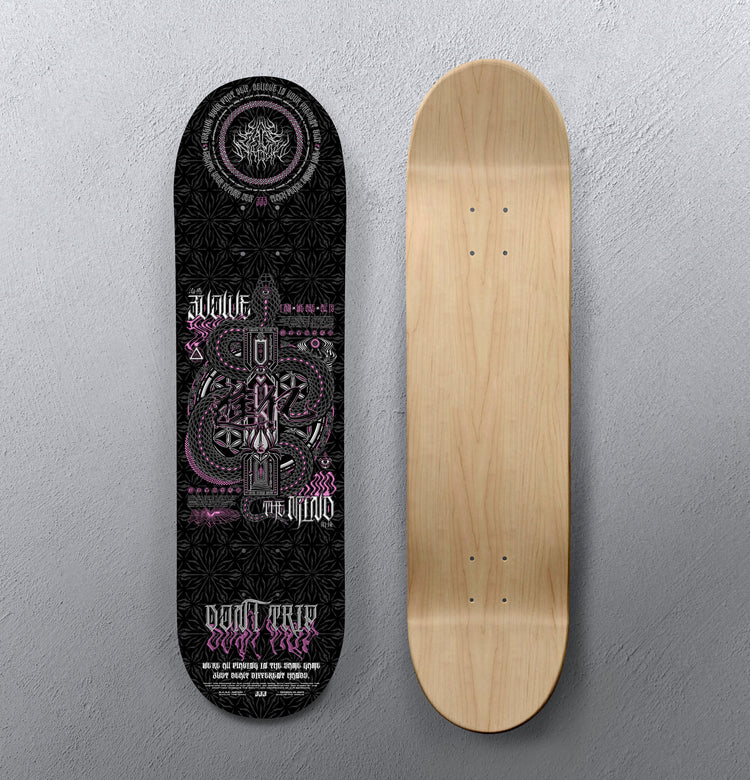 EVOLVE THE MIND V2 • Skateboard Deck • Limited Edition 100 Skateboard