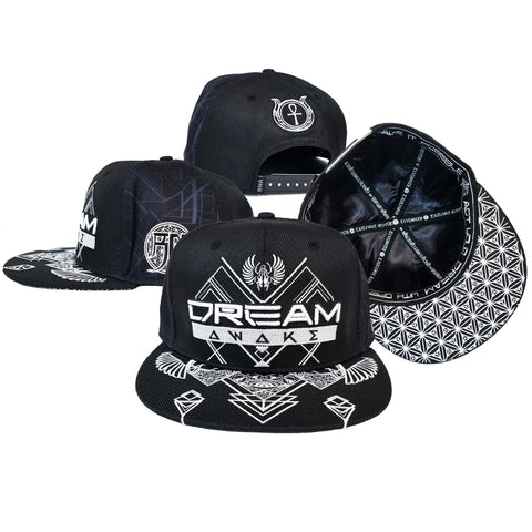 DREAM AWAKE CROWN // Hemp Snapback Hat w/ Interior Pocket