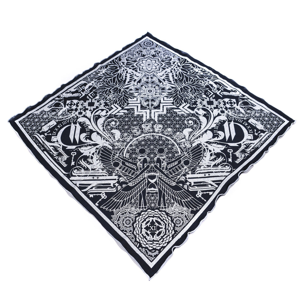 THE TIME BETWEEN • Silver Crystal-Infused Bandana Bandanas