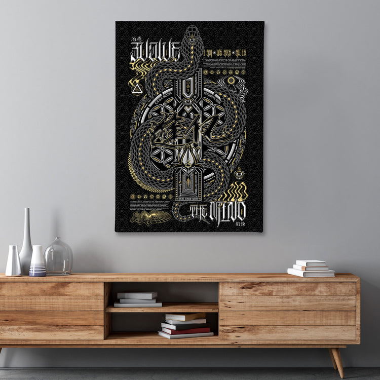 NEW • EVOLVE THE MIND • Limited Edition • Vertical Canvas Canvas