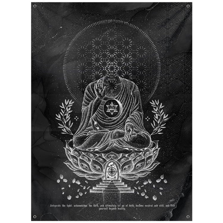 LOTUS THRONE V1 (sahasrāra सहस्रार) • GLENN THOMSON • Wall Tapestry Tapestry 59x80 inch Outdoor Poly with Grommets