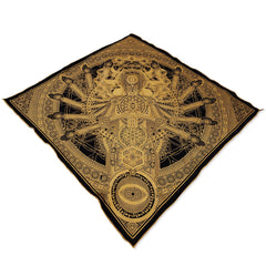 DIRECT CONTACT // Gold Crystal Infused Ink Bandana