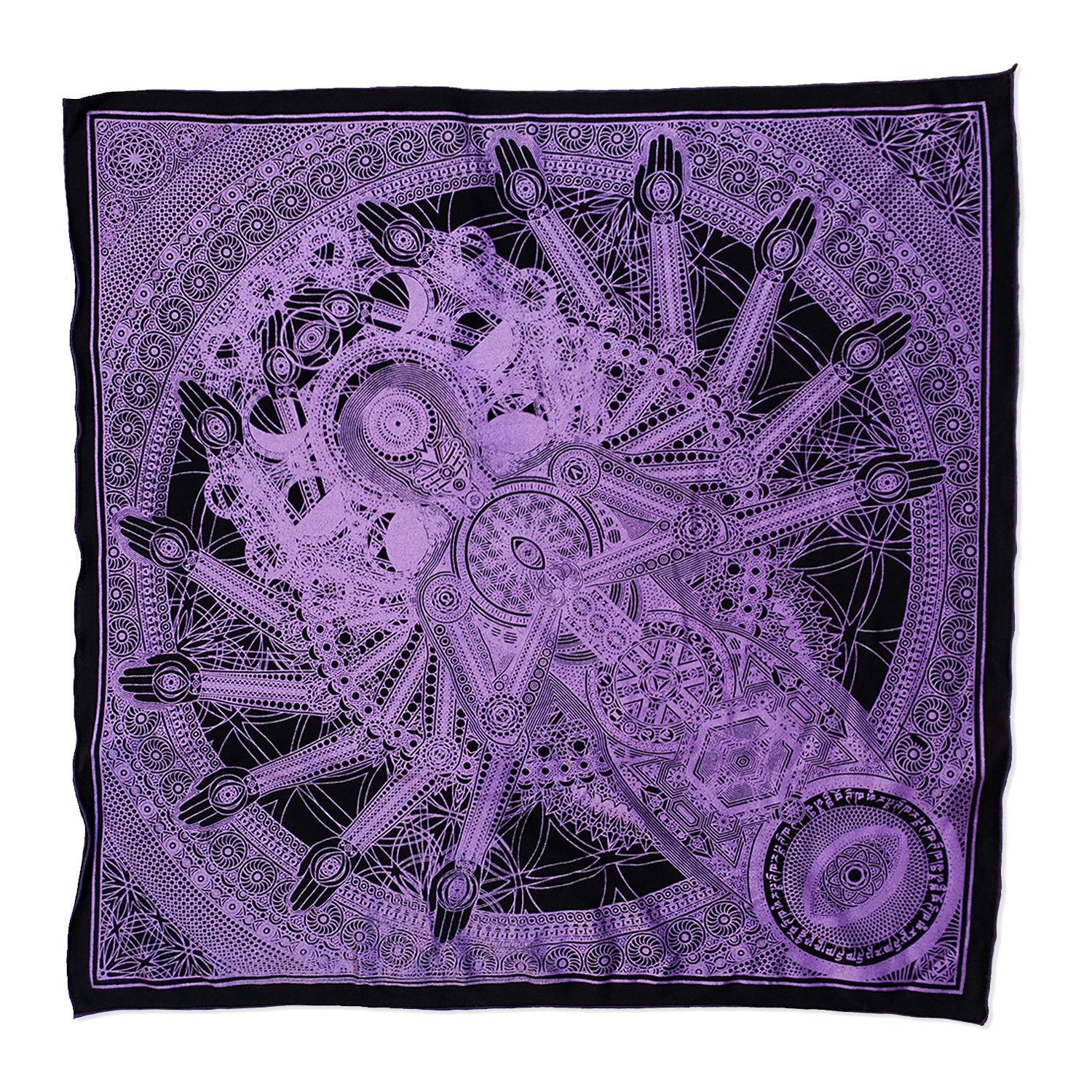 DIRECT CONTACT // Lavender Crystal Infused Ink Bandana