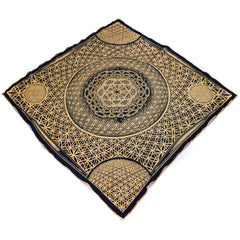 BACK IN STOCK \\ FLOWER OF LIFE // Gold Crystal-Infused Festival Bandana