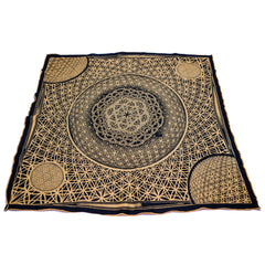 FLOWER OF LIFE // Gold Crystal-Infused Festival Bandana