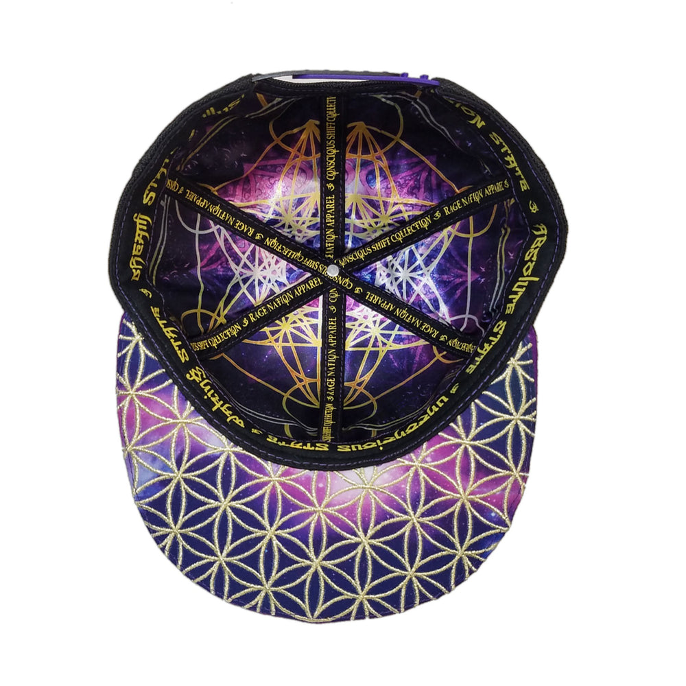 OМ AWAKEN V2 • Gold/Purple • Secret Pocket Hemp Snapback Hats