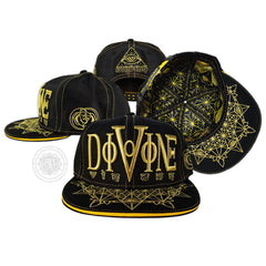 V1 DIVINE VISIONS // Gold/Black// Hemp Snapback w/ Interior Pocket
