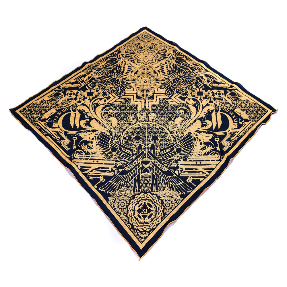 THE TIME BETWEEN • Gold Crystal-Infused Bandana Bandanas