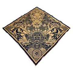 THE TIME BETWEEN // Gold Crystal Infused Ink Bandana