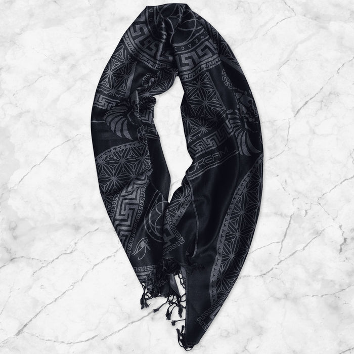 DREAM AWAKE • SMOKE • Reversible Festival Shawl/Scarf Shawls