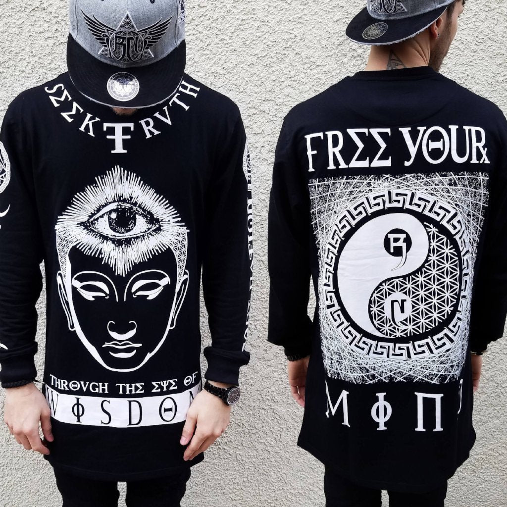 YIN SEEК TRUTH // Crewneck Extended Long Sleeve