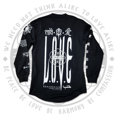 LOVE IS THE ONLY LAW • Scooped Cut Long Sleeve Apparel