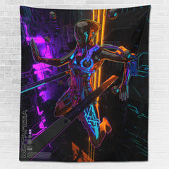 LE 100 • METANOIA • GLASS CRANE • Wall Tapestry Tapestry