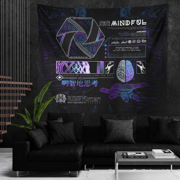 MIND OF ZEN V1 • Wall Tapestry Tapestry