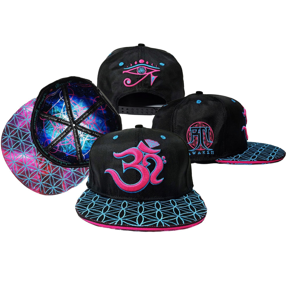 OМ AWAKEN V3 • Pink/Blue • Secret Pocket Hemp Snapback Hats