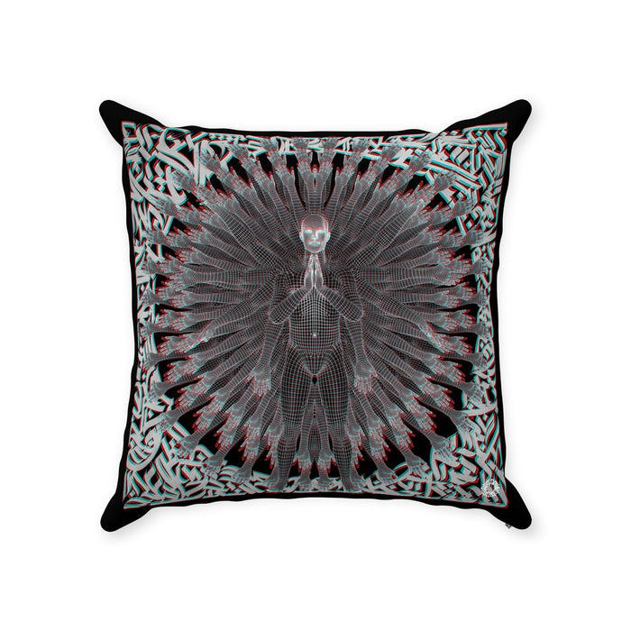 PRIMORDIAL GUARDIAN Throw Pillows With Zipper Suede 14x14 inch