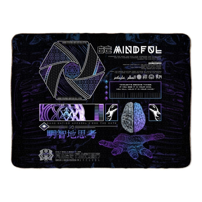 Mind of Zen V1 Fleece Sherpa Blankets 60x80 inch