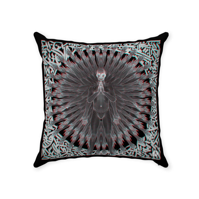 PRIMORDIAL GUARDIAN Throw Pillows With Zipper Suede 16x16 inch