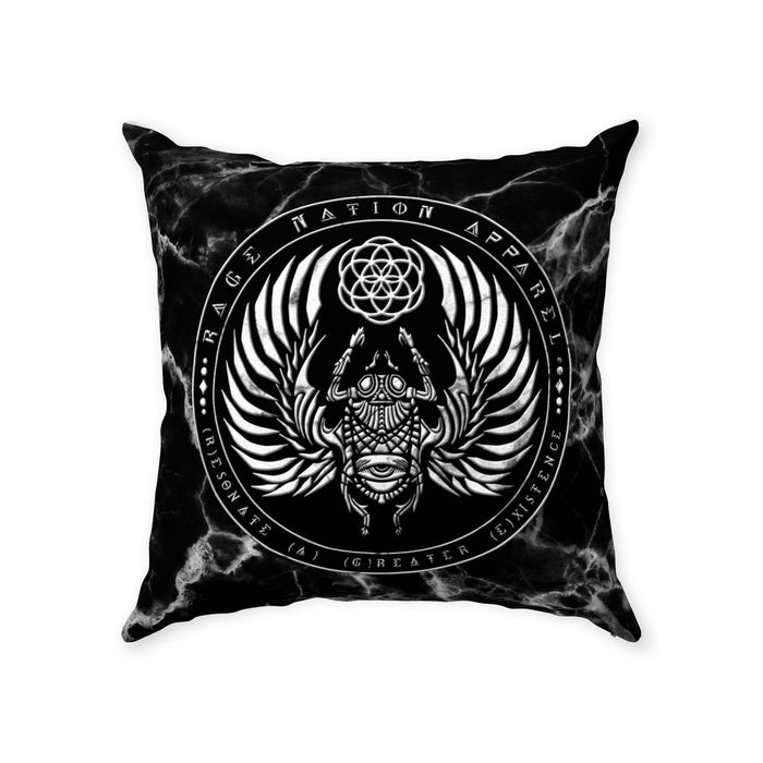 SCARAB MARBLE • Double-Sided Throw Pillow With Zipper Suede 18x18 inch