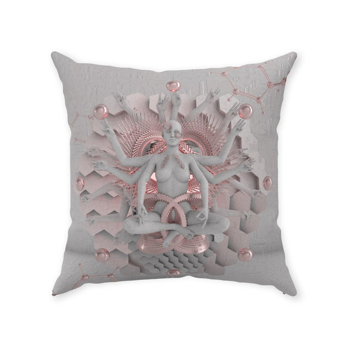 GOT'EM • GLASS CRANE • Double-Sided • Suede Throw Pillow Pillow With Stuffing 20x20 inch