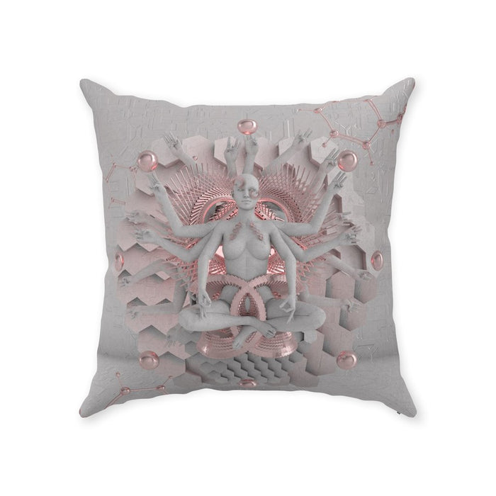 GOT'EM • GLASS CRANE • Double-Sided • Suede Throw Pillow Pillow With Stuffing 18x18 inch