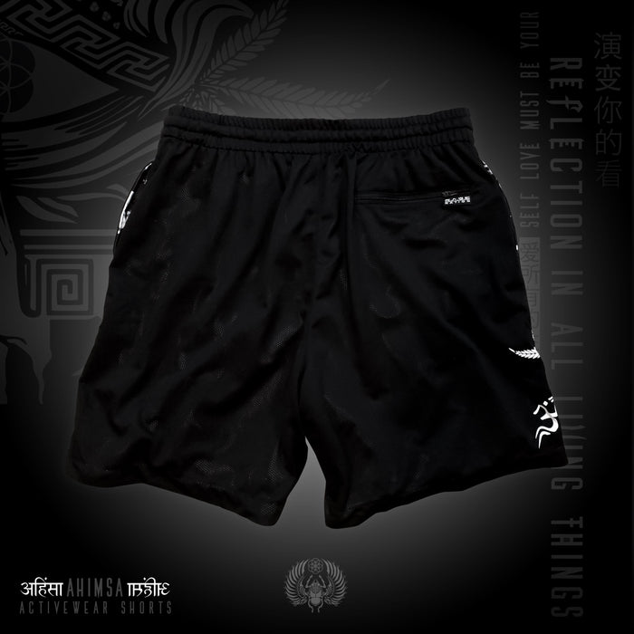 AHIMSA V1 • Activewear Graphic Shorts Apparel