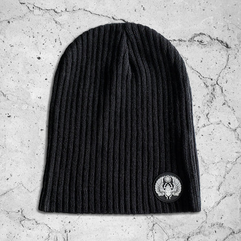 SCA.RA.B // Slouch Beanie w/ Rubber Molded Patch \\