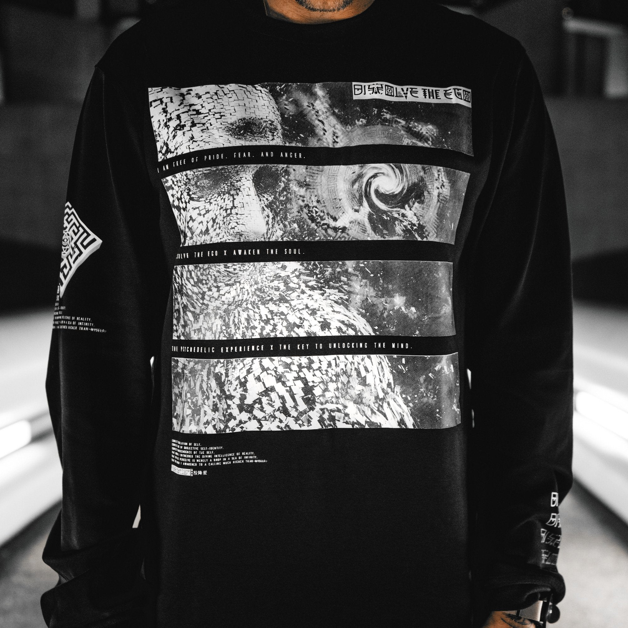 DISSOLVE THE EGO • Luxury Fabric Long Sleeve Apparel