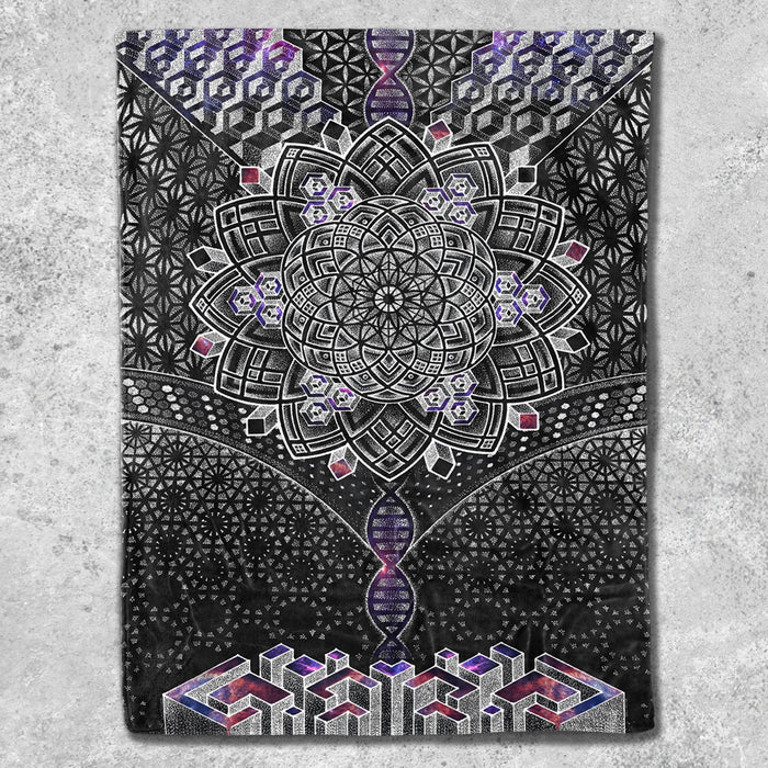 ONENESS GALAXY • Glenn Thomson Fleece Blankets Blanket