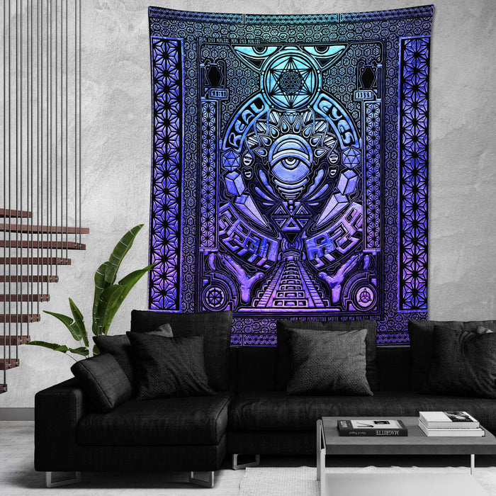 REAL EYES V2 • GROKKO • Limited Edition Wall Tapestry Tapestry