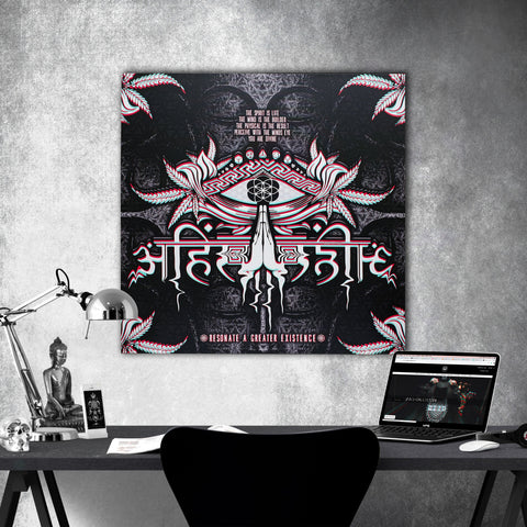 LIVE AHIMSA V1 // Canvas Wrap