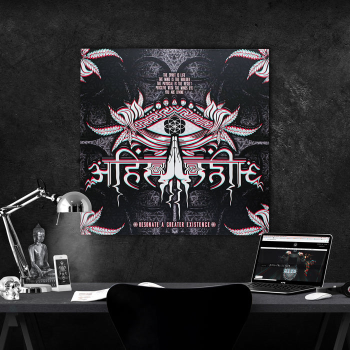 LIVE AHIMSA V1 • Canvas Wrap Canvas