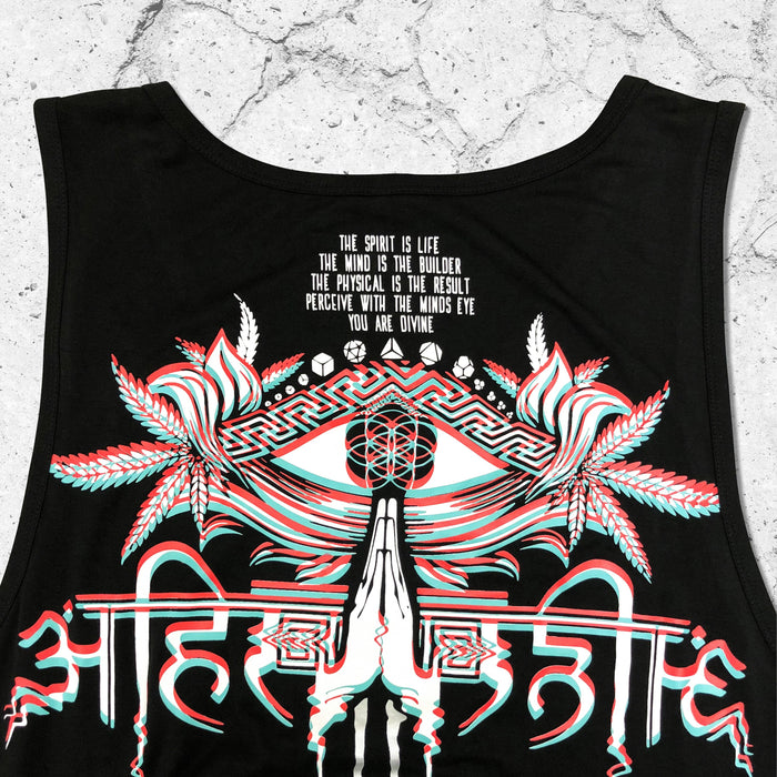 AHIMSA V2 • 3D EFFECT • Flow-fit Tank Top Apparel