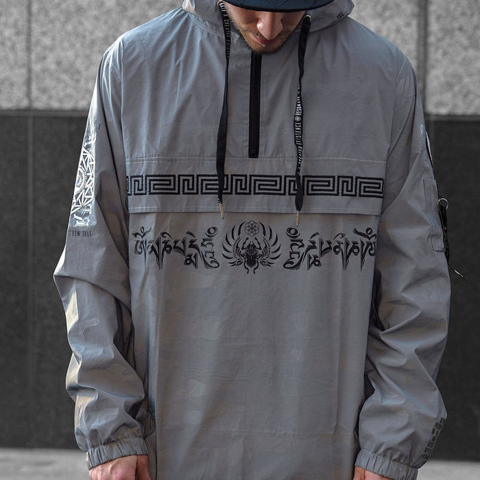 MANTRA V3 • Reflective Camo • Hooded Pullover Windbreaker Apparel