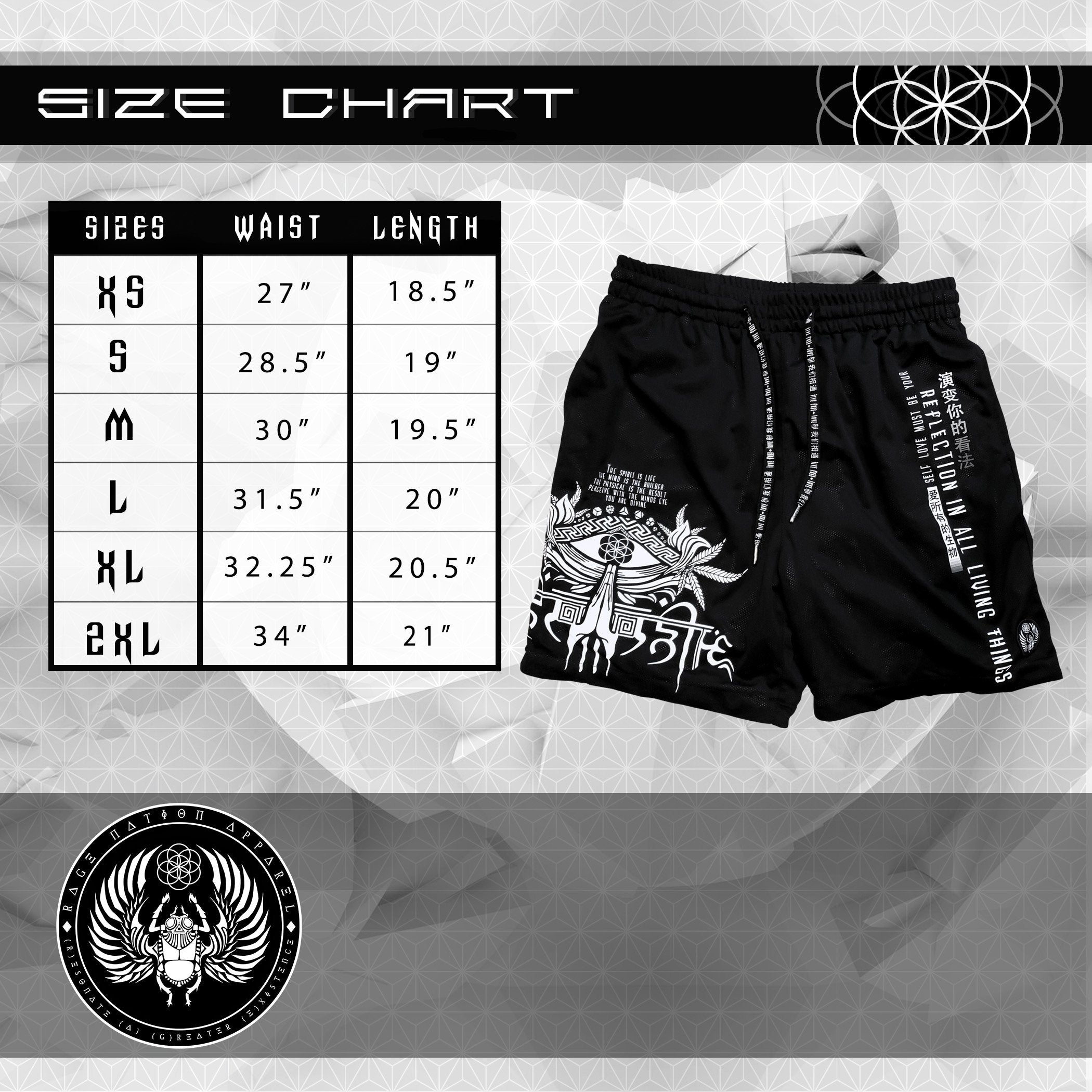 NEW RELEASE \\ V1 AHIMSA // ACTIVEWEAR GRAPHIC SHORTS