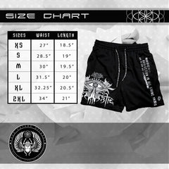 V1 AHIMSA // ACTIVEWEAR GRAPHIC SHORTS