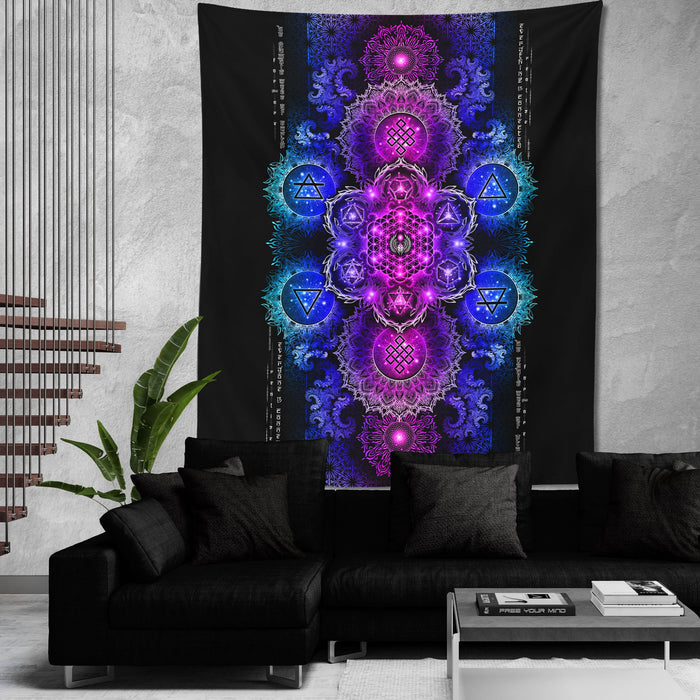 ETERNAL ALCHEMY V2.4 • YANTRART • Wall Tapestry Tapestry